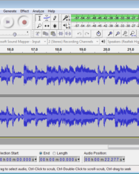 Audacity editing window